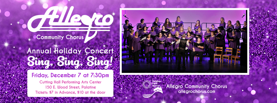 Get Tickets for the Allegro Community Chorus Holiday Concert