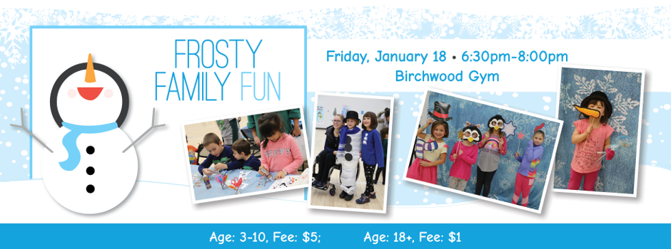 Register Online for Frosty Family Fun