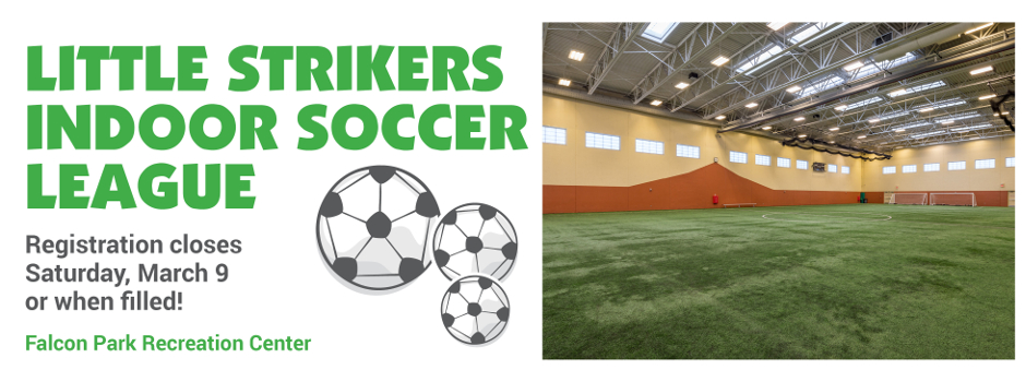 Register Online for Little Strikers Indoor Soccer League