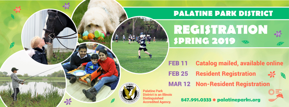 View the Palatine Park District Spring 2019 Program Catalog Online