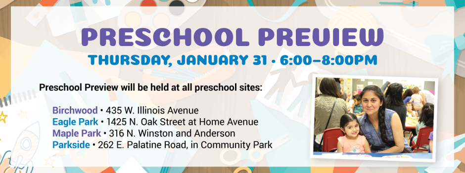 Preschool Preview at All Four Locations on January 31