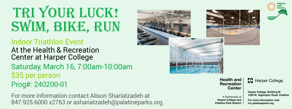 Register for the Tri Your Luck Swim, Bike, Run!