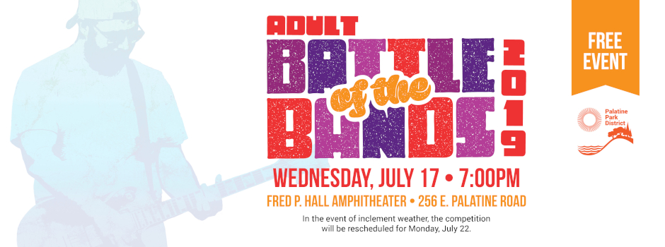Adult Battle of the Bands at Fred P Hall Amphitheater on July 17