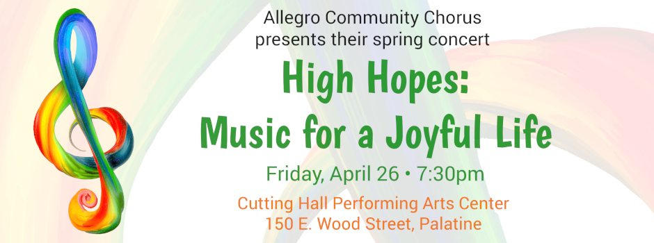 Tickets on sale for Allegro Community Chorus Spring Concert on April 26