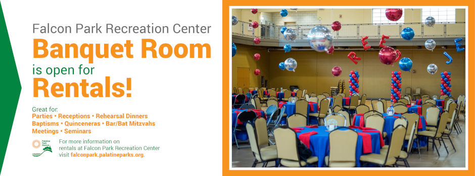 Learn more about rental opportunities at Falcon Park Recreation Center