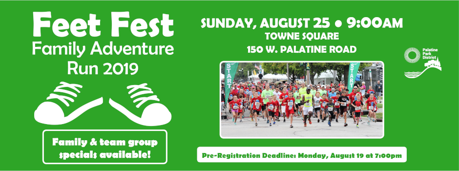 Register for Feet Fest Family Adventure Run by August 19