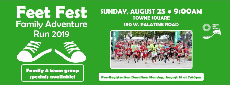 Register for Feet Fest Family Adventure Run by August 19