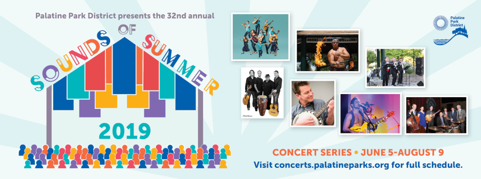 Sounds of Summer Concert Series in Palatine from June 5 through August 9