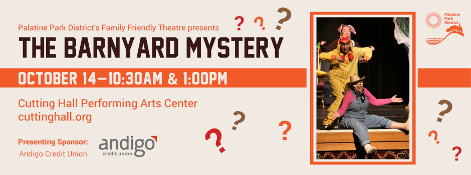 Family Friendly Theatre presents The Barnyard Mystery at Cutting Hall on October 14