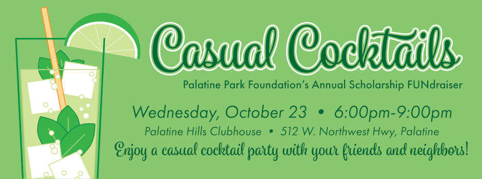 Casual Cocktails Park Foundation Fundraiser on October 23 at Palatine Hills