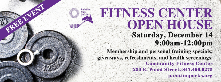Community Fitness Center Open House on December 14