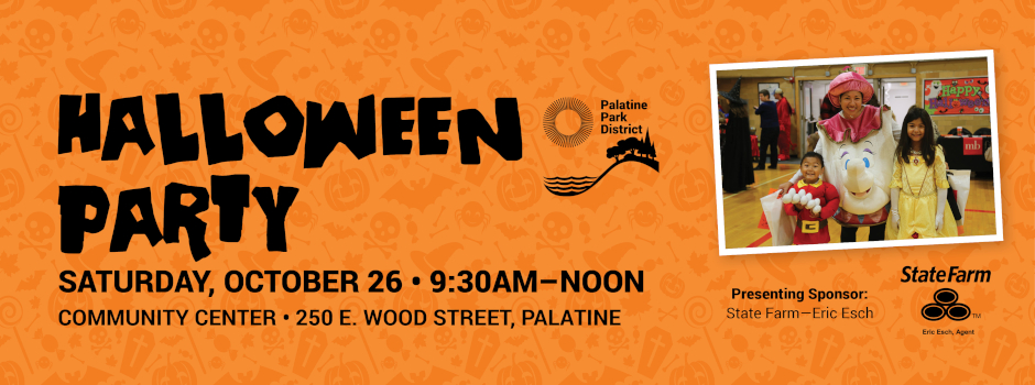Halloween Party for children ages 1-10 at Community Center on October 26