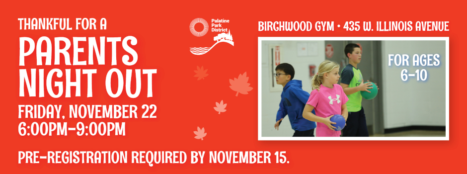 Parents Night Out at Birchwood Recreation Center on November 22