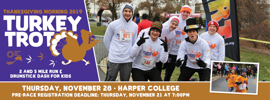 Turkey Trot & Drumstick Dash at Harper College on November 28