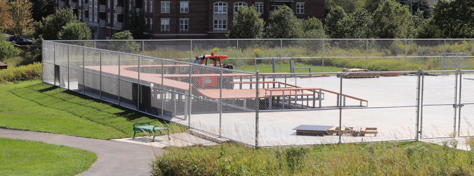 Skate Park Installation at Margreth Riemer Reservoir