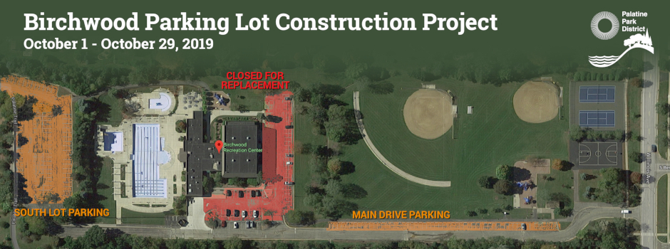 Birchwood Parking Lot Construction from Oct 1-29
