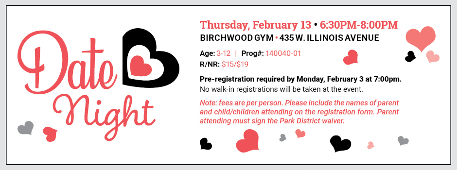 Date Night at Birchwood Recreation Center on February 13