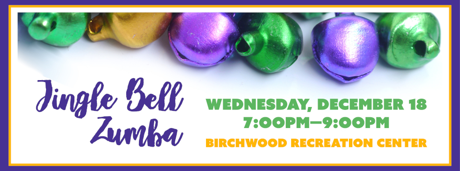 Register for Jingle Bell Zumba at Birchwood Recreation Center on December 18