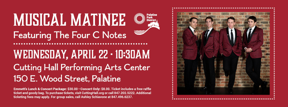 Musical Matinee at Cutting Hall Performing Arts Center on April 22
