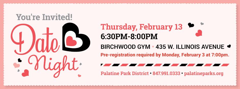 Date Night at Birchwood Recreation Center on February 13