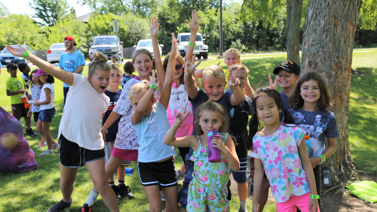 Kids Camp Outside Birchwood Recreation Center in 2019