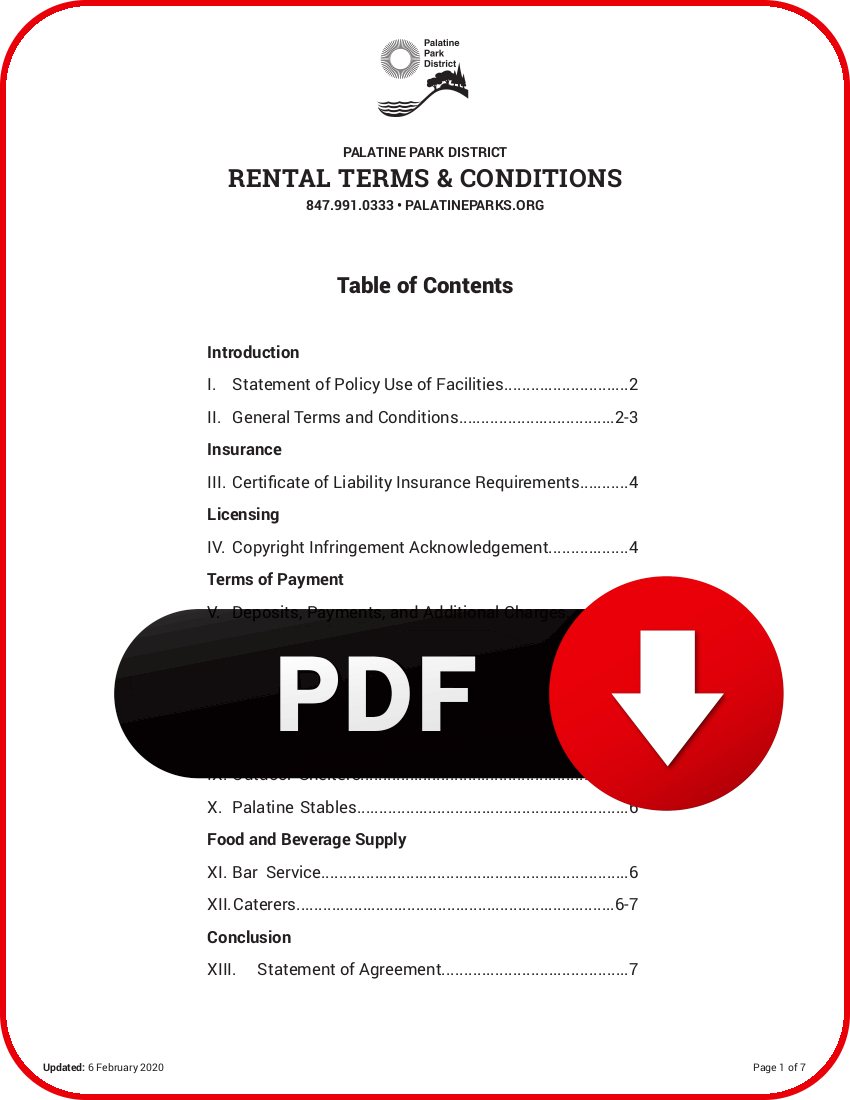 Download Rental Terms and Conditions PDF
