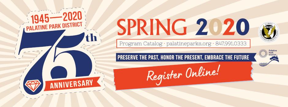 Register Online for Spring 2020 Programs and Events