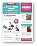 Click to View the Spring 2020 Fitness Center Newsletter