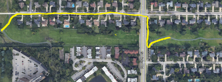Palatine Trail Pedestrian Bridge Closure