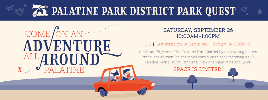 Come On An Adverture All Around Town with Palatine Park District Park Quest