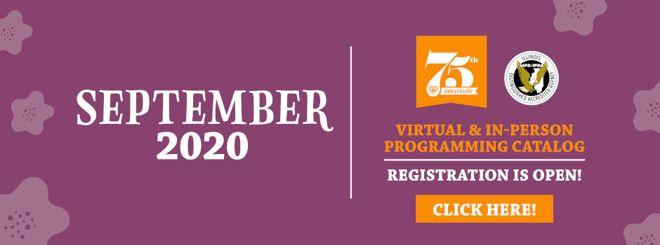 Register Online for 2020 September Virtual & In-Person Programming