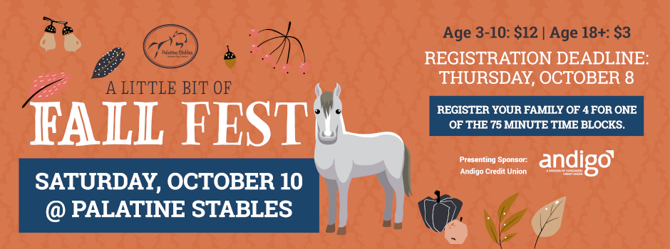 Registration Now Available for Fall Festival at Palatine Stables on October 10