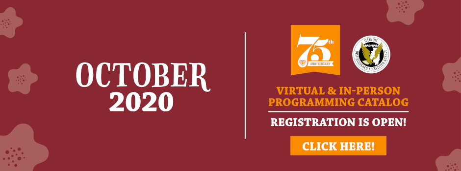 Register Online for 2020 October Virtual & In-Person Programming
