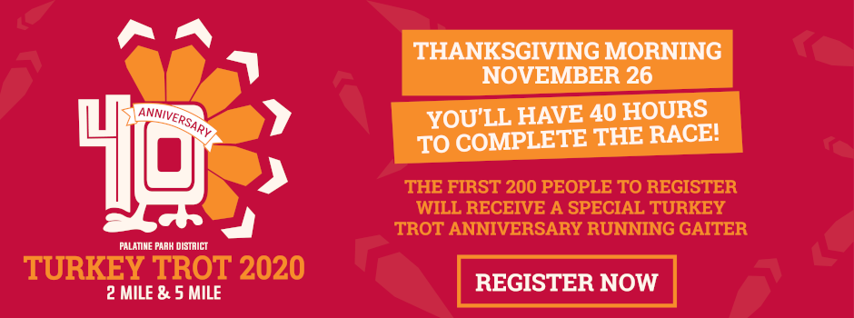 Register Online for the 40th Annual Turkey Trot