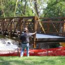 Contractors Replace Bridge Near Palatine Public Library