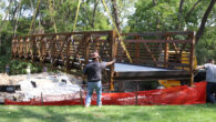 Contractors Replace Bridge Near Palatine Public Library