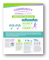 Click to View the Spring 2021 Fitness Center Newsletter