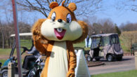Sammy the Squirrel at Head to the Hills Golf Fest in 2018