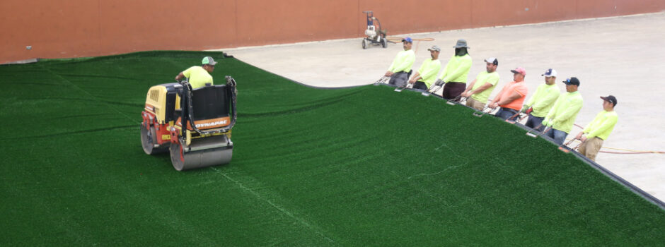 Falcon Park Turf Replacement as of August 30, 2021