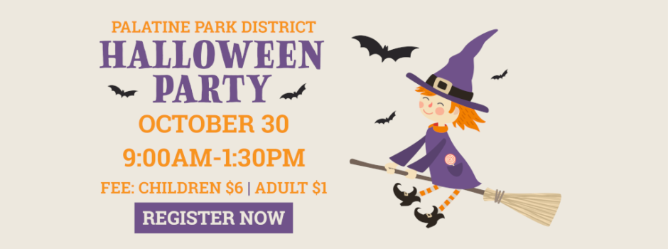 Register Now for Palatine Park District Halloween Party