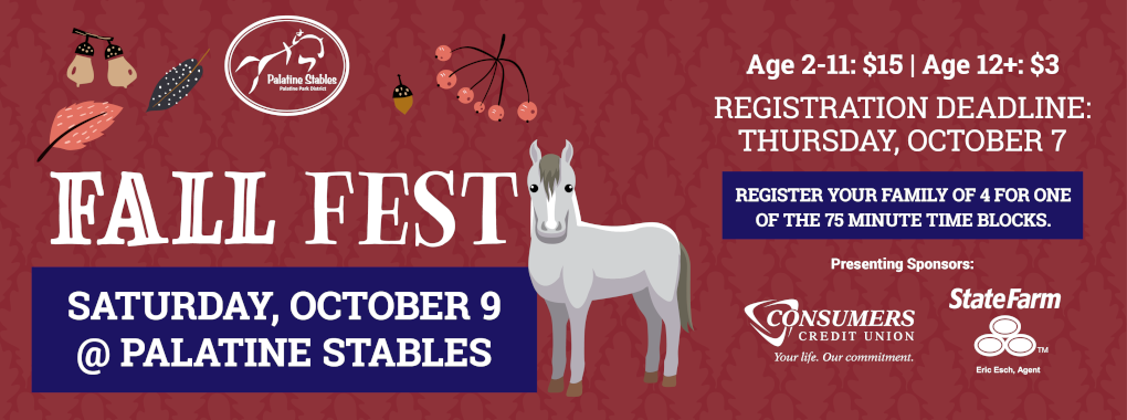 Register for Fall Festival at Palatine Stables on October 9