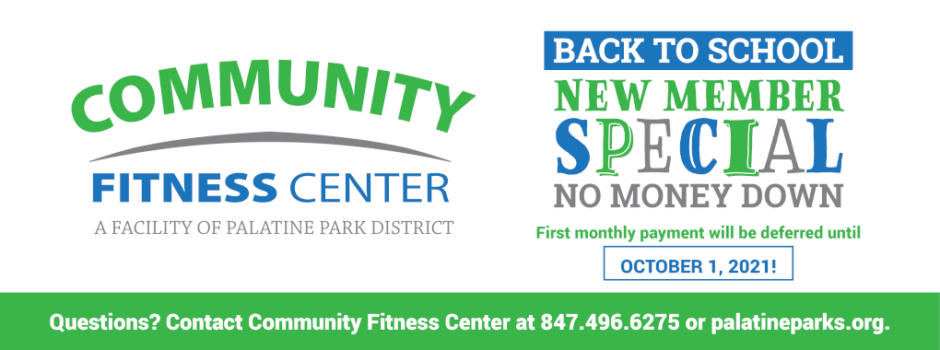 Community Fitness Center Back to School New Member Special